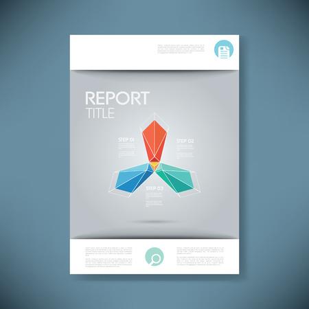 portadas: cubrir la plantilla de informe para la presentación de negocios o un folleto. símbolo de la forma poligonal de vectores de fondo abstracto. eps10 ilustración vectorial. Vectores