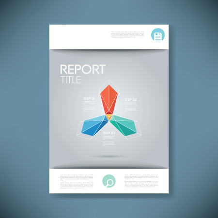 page design: Report cover template for business presentation or brochure. Abstract polygonal shape symbol vector background. Eps10 vector illustration.