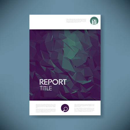 green technology: Report cover template for business presentation or brochure. Abstract polygonal shape symbol vector background. Eps10 vector illustration.