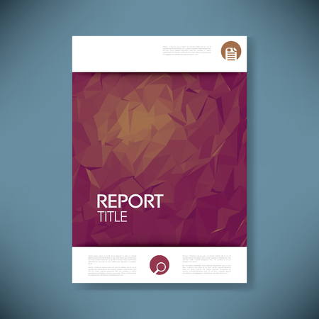 background elegant: Plantilla de la cubierta con el informe 3d baja poli vectores de fondo. negocios folleto o una p�gina t�tulo de la presentaci�n. ilustraci�n vectorial.