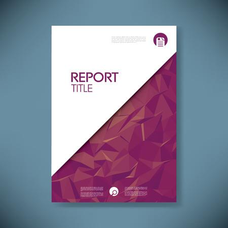 低ポリ デザイン ベクトルの背景とビジネス レポート カバー。  イラスト・ベクター素材
