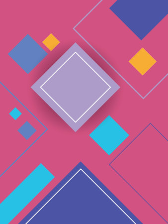 concept design: Modern material design background with geometric shapes and bright colors. Illustration