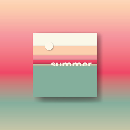 colors: Abstract summer background illustration. Sea sunset colors.