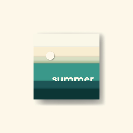 palette: Abstract summer background illustration. Earth palette ground colors. illustration