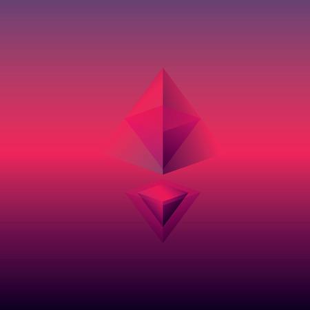 ilustración de fondo abstracto con las pirámides. formas geométricas poligonales.