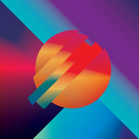 forme: conception Matériau abstrait vecteur de fond avec des formes isométriques géométriques. Vivid, lumineux, symbole coloré brillant pour le papier peint.