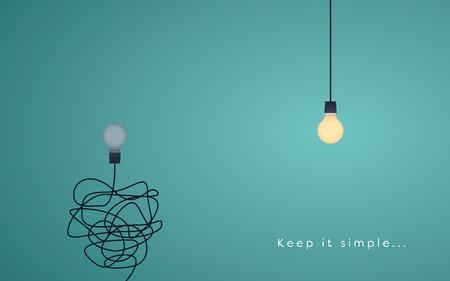Keep it simple biznesowe koncepcję marketingu, kreatywność, zarządzanie projektami.