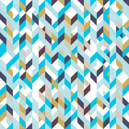 low floor: Patchwork pattern bohemian style with geometric polygonal retro decorative ornaments. Illustration