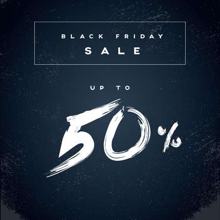 shopping malls: Black Friday sale banner with percentage discounts on special offers. Shopping poster vector background. Eps10 vector illustration. Illustration