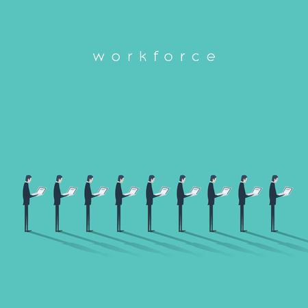 単調な反復的な仕事をしているビジネスマンとのビジネスの労働力ベクトル図コンセプト