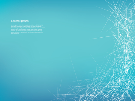 Abstract vector background with neural network design and space for text, infographics or presentation.