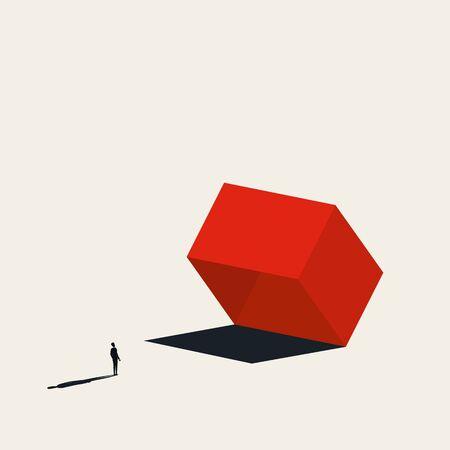 Business risk or danger vector concept. Symbol of trap, risky investment, market assessment. Minimal art design. Eps10 illustration. 向量圖像