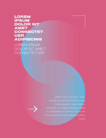 Abstract gradient pink blue vector background for art poster template. Minimal design.