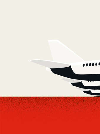 Airlines bankrutpcy vector concept. Air travel industry decline, financial crisis and recession due to pandemics. Vettoriali