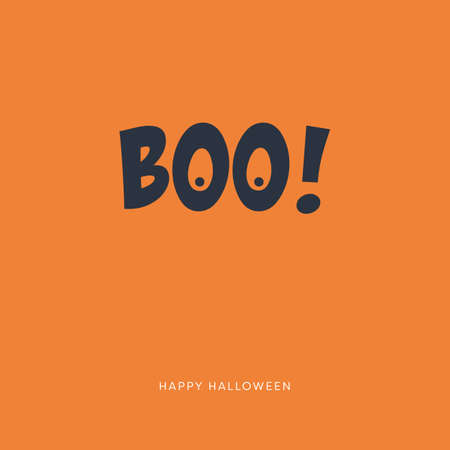 Halloween card vector template with creative typography. Party invitation.