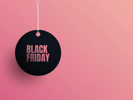 Black Friday sale website vector banner template with space for text, copy. Discounts, special offers promotion.