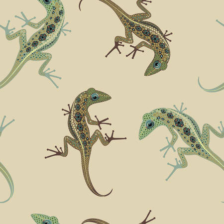 brisk: pattern bulky lizard crawling on the background color brisk