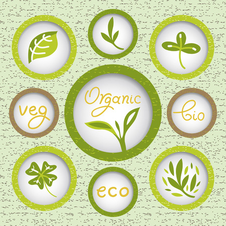 organic product for the easy life Vector