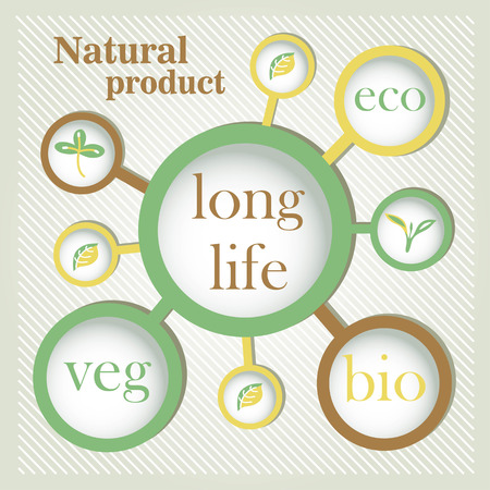 organic natural product Vector