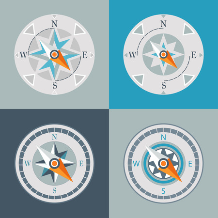 series of decorative compasses  Vector