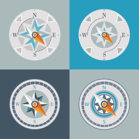 azimuth: series of decorative compasses  Illustration