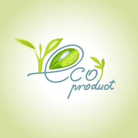 product range: eco product with a drop of dew in the letter