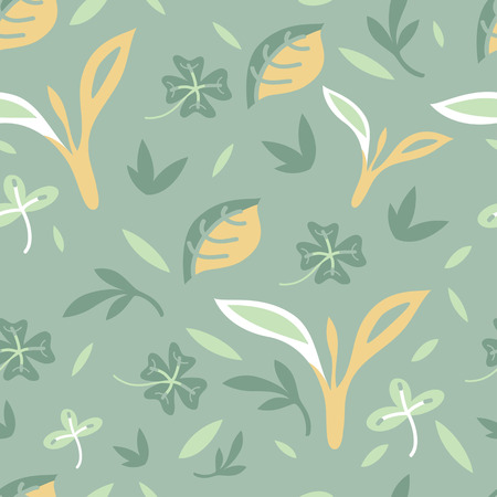 notions: pattern eco bio leaves
