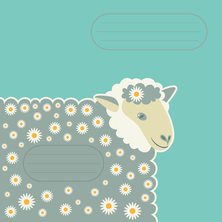 sheep in daisies place for an inscription
