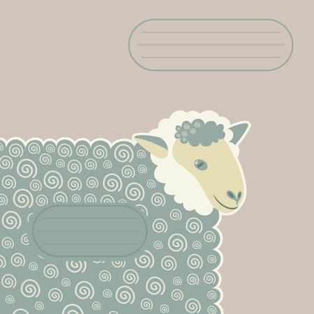 kinky: sheep with decorative swirls