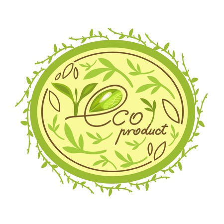 haltbarkeit: �ko Bio Bio-Produkt-Logo Illustration