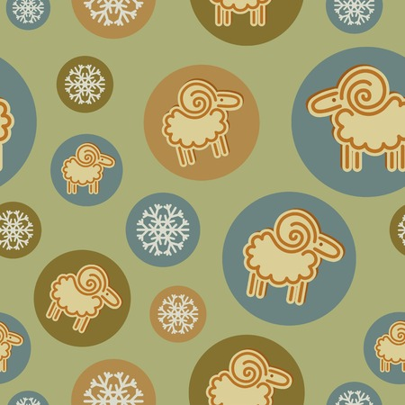 kinky: winter pattern with snowflakes