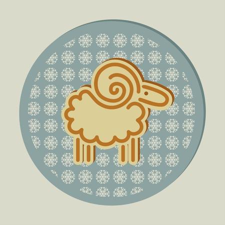 kinky: decorative Christmas sheep and snowflakes