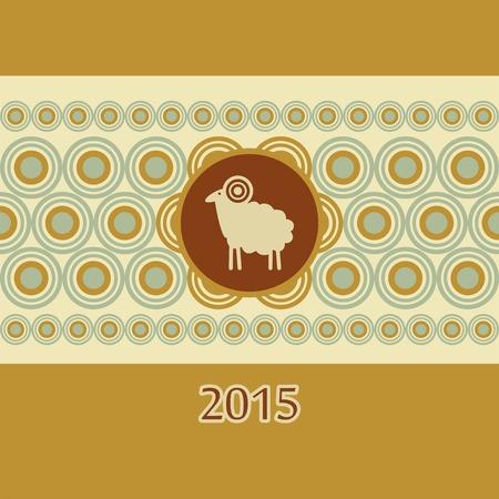 kinky: decorative ram New Year card Christmas