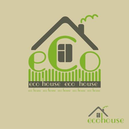 haltbarkeit: �ko-Haus umweltfreundliche Naturmaterialien Illustration