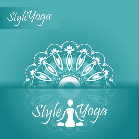 yoga style ornament with reflection design Vector