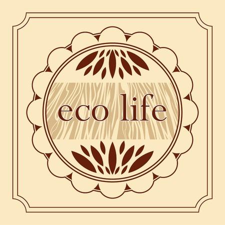 haltbarkeit: eco gesundes Leben Naturprodukt dekorativen Emblem