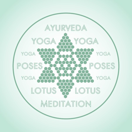 ayurveda: stylized Lotus flower design Ayurveda yoga