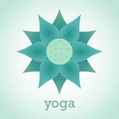 namaste: the Lotus flower is the emblem of yoga meditation design