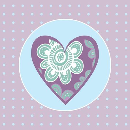 gentle background: decorative heart Valentine on a gentle background for Valentines day Illustration