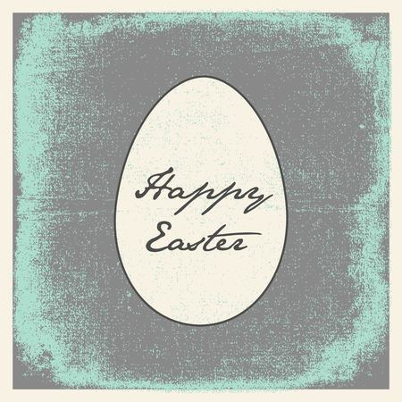 antiquity: Easter card with the effect of antiquity retro