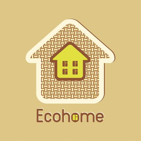cloth texture: eco house made from natural materials cloth texture