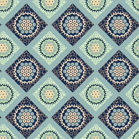lozenge: decorative ornament seamless pattern of colorful lozenges