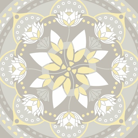 to reassure: mandala pattern background on the topic of yoga and lotus flower design