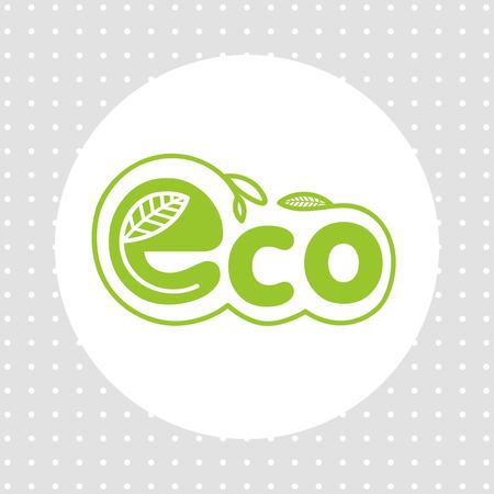 durability: eco emblem of the natural product in a circle design