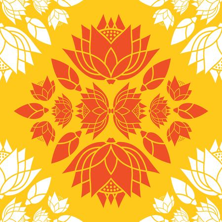 pattern seamless  of lotus flowers decorative design