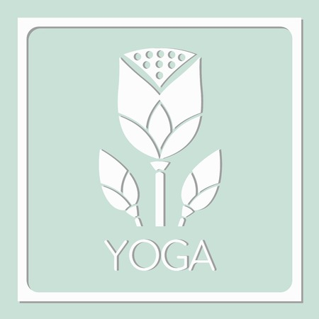 represent: icon yoga lotus decorative design