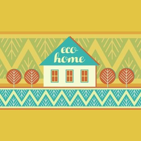 eco house decorative natural materials natural