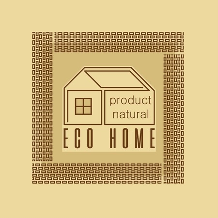 durability: Eco-house made of natural materials design stylization