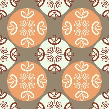 seamless clover: seamless pattern ornament leaf clover design with circles