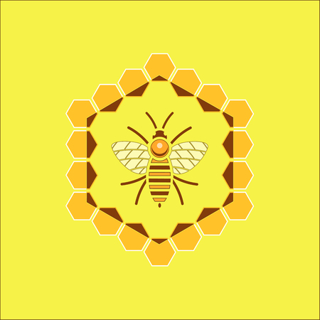 Design emblem of a golden bee
